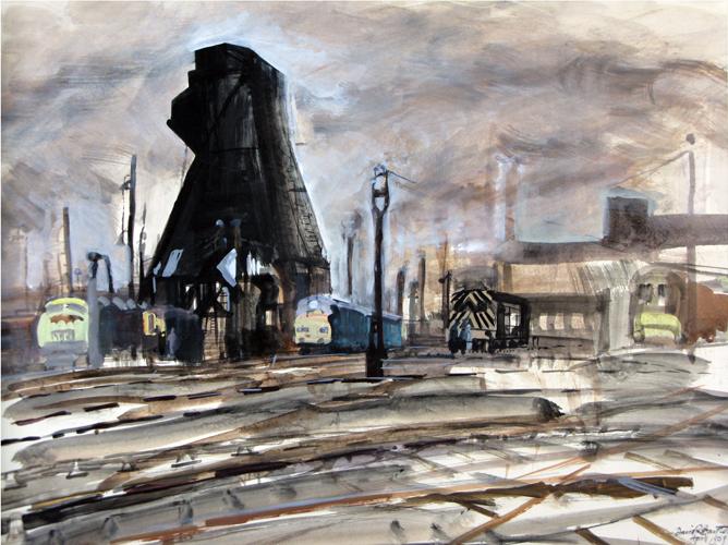 Tysley Coal Hopper. 1969. Gouache. 40x60cm.