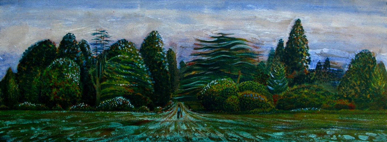 Green Space. Acrylics. 30x10cm