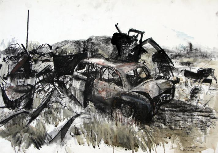 Scrap Car Dump. 1969. Mixed Media. 60x80cm.