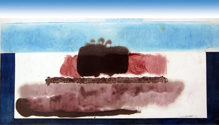 Mindscape 1. 1970. Encaustic. 45x65cm.