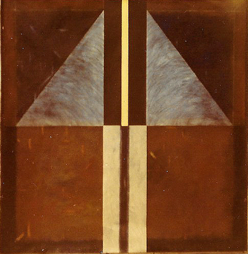 Monolith of Light. 1973. oil on Canvas. 183x183cm.