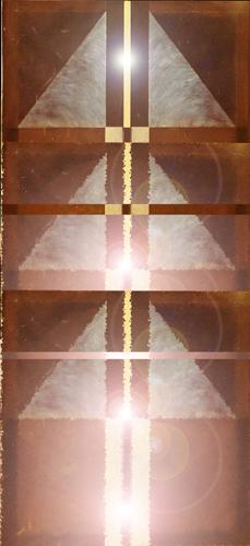Monolith of Light. Reconfigured in Photoshop. 2018.